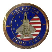 F-22 Demo Team 2020 Gold Challenge Coin