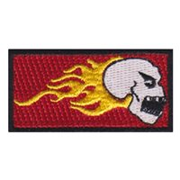 889 FTS Fire Skull Pencil Patch
