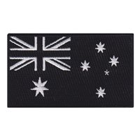 Australia Flag Black and White Patch