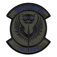67 SOS Night Owls Subdued Patch
