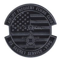 86 AW Secret Service Black and Gray Patch