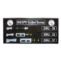 INS/GPS Guided Bombs Custom Deployment Wall Plaque