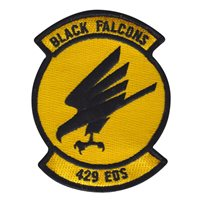 429 EOS Black Falcons 4 Inch Patch