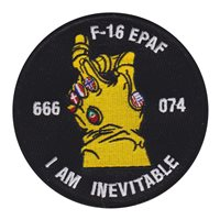 416 FLTS F-16 EPAF I am Inevitable Patch
