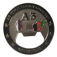 AFCENT A3 Bottle Opener Challenge Coin