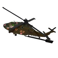 MEDEVAC US Army UH-60 Black Hawk Aircraft Briefing Stick
