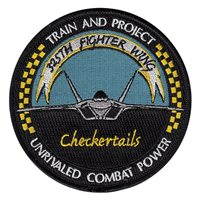 325 FW Checkertails Patch