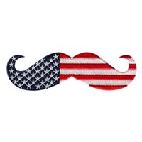 Mustache Flag Movember Patch
