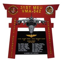 VMA-542 Deployment Plaque