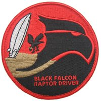 27 FS Black Falcon Guam Patch