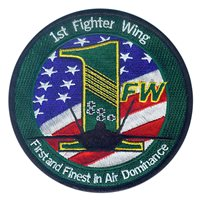 1st Fighter Wing (1 FW) Raptor Patches