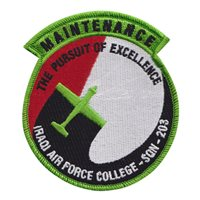 No. 203 Squadron IQAF College Maintenance Patch