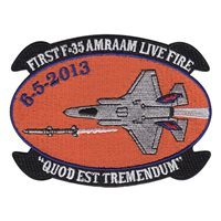 461 FLTS F-35 First AMRAAM Fire Patch