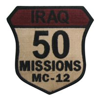 MC-12 50 Combat Missions Patch