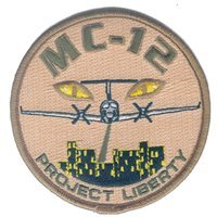 MC-12 Project Liberty Desert Patch