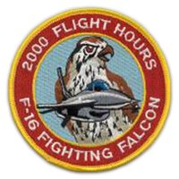 F-16C 2000 Hours Patch