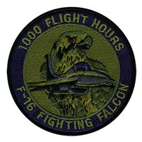 F-16C 1000 Hours Subdued Patch