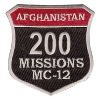 MC-12 200 Missions Patch