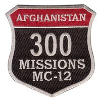 MC-12 300 Missions Patch