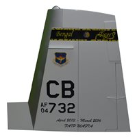 37 FTS T-6 Airplane Tail Flash