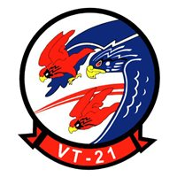 VT-21 T-45 Airplane Tail Flash