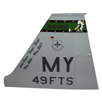 49 FTS T-38 Airplane Tail Flash