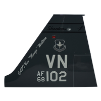 25 FTS T-38 Airplane Tail Flash