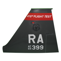 415 FLTF T-38 Airplane Tail Flash