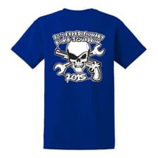 20 EBS PC61 Royal Blue T-Shirt Back Design