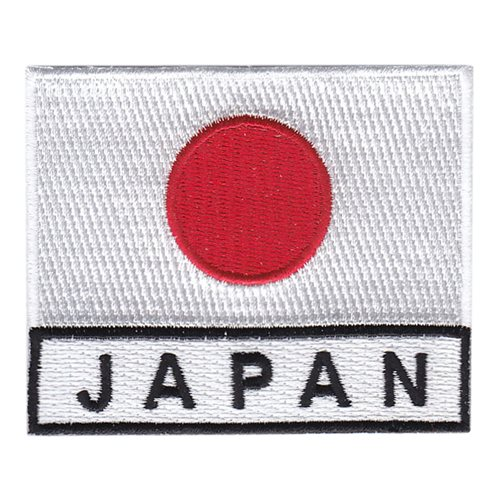 JAPAN  COUNTRY FLAG NEW NAME PATCH TAG