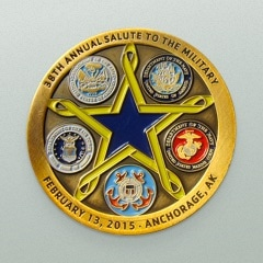 38th Annual Salute To The Military Anchorage, Alaska Gold Challenge Coin
