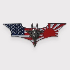 Batman Shaped USA Flag and Fighter Jet Challenge Coin