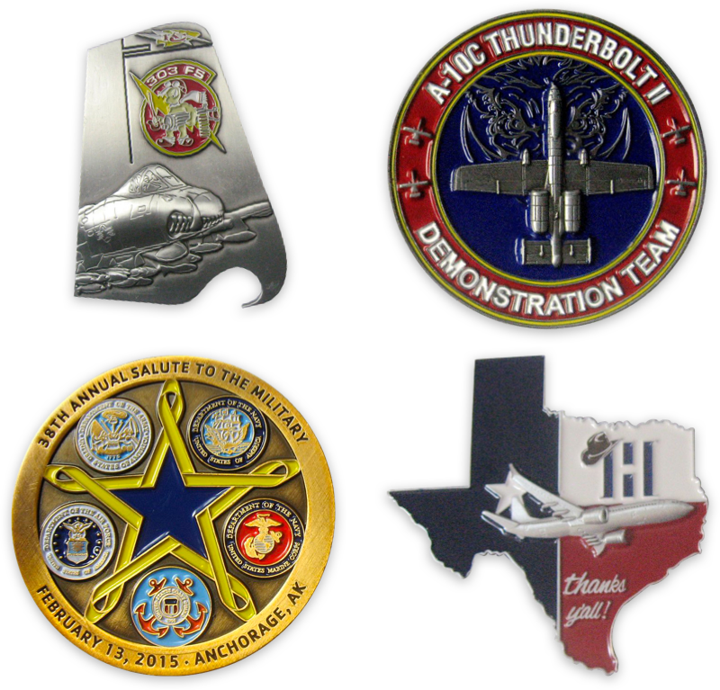 Aviator Gear Custom Challenge Coin Examples