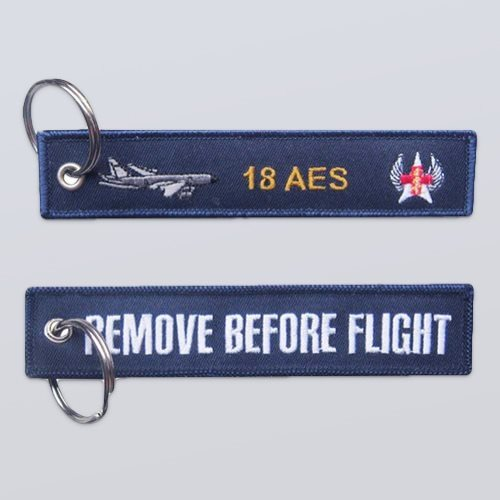 18th Aeromedical Evacuation Squadron Remove Before Flight Keychains
