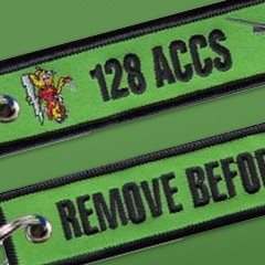 128th Airborne Command & Control Squadron Remove Before Flight Keychains