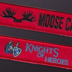 Knights of Heros Moose Cabin Custom Key Flags