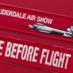 Ft Lauderdale Air Show Remove Before Flight Keychain
