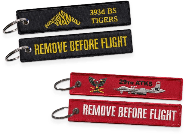 Aviator Gear Custom Remove Before Flight Keychains for the 393 BS and 29 ATKS