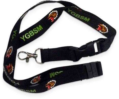 Aviator Gear Custom Lanyard with Buckle, Lobster Clasp and Safety Breakaway