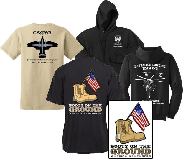 Aviator Gear Custom Shirt - Boots On The Ground - America Remembers