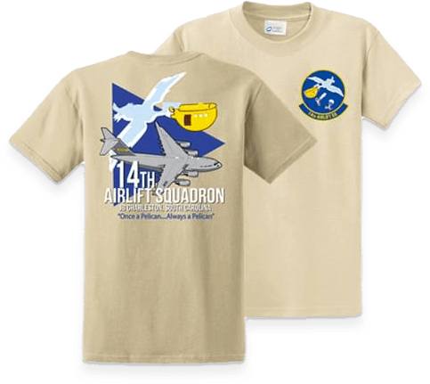 Aviator Gear Custom T-Shirt for 14th Airlift Squadron